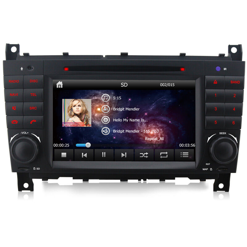 Dvd gps player system sat nav for mercedes benz c class for How to use mercedes benz navigation system