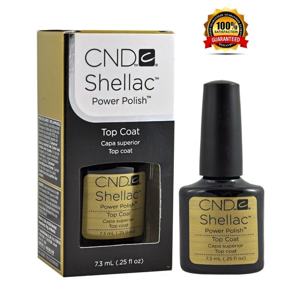 CND Shellac Top Coat .25oz - Brand New 100% Authentic