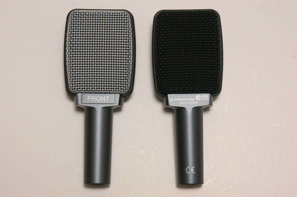 new sennheiser e609 silver electric guitar amp cabinet microphone e 609 mic 4044155000238 ebay. Black Bedroom Furniture Sets. Home Design Ideas