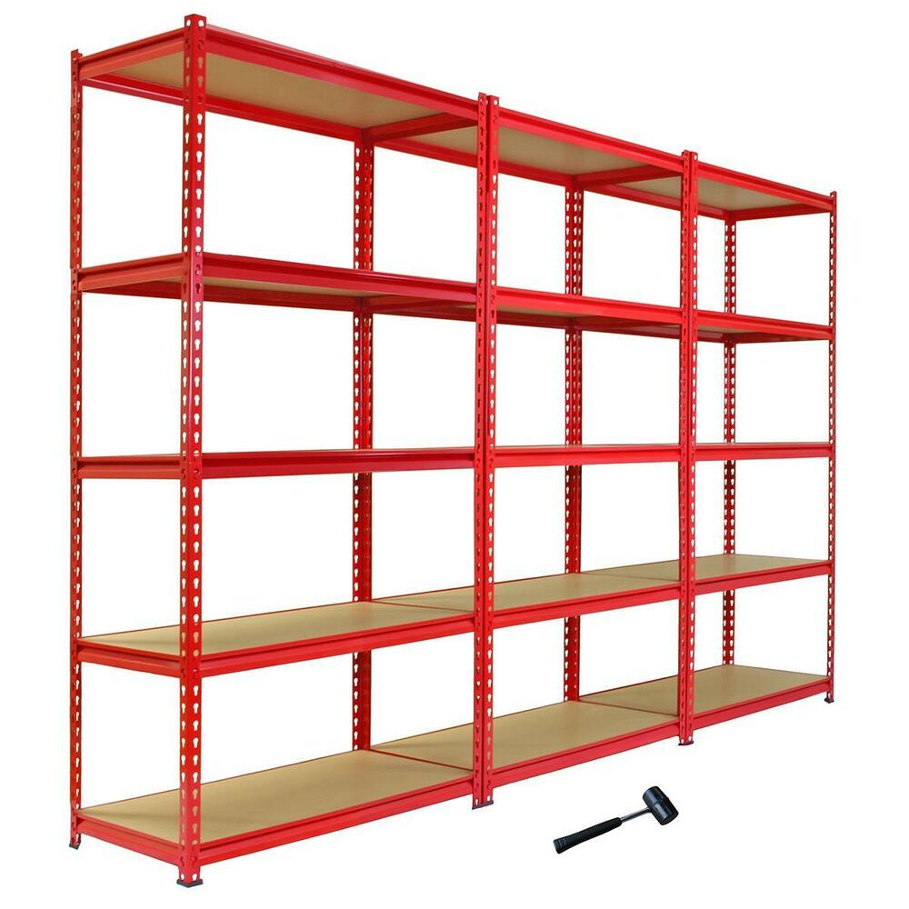 steel storage shelves 3 garage shelving racking 90cm storage units heavy duty 26782