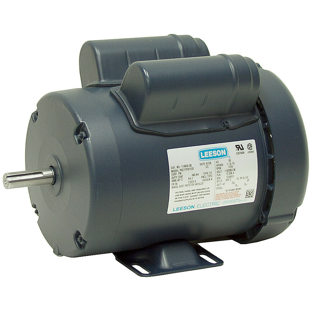 3 4 hp leeson instant reversing electric motor 115 230 for 3 phase 3hp motor