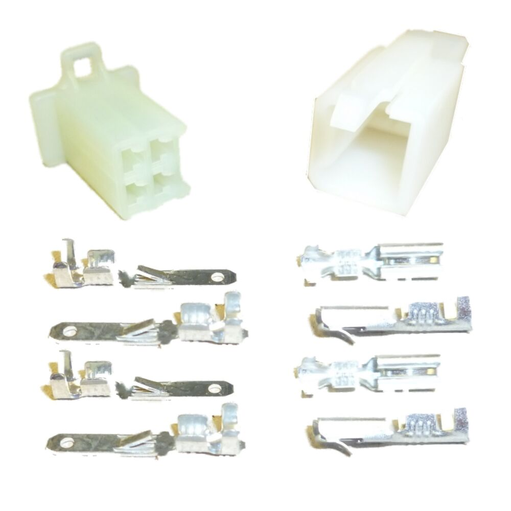 Motorcycle Mini Latch Wiring Connector Set 2 8mm 4 Way Natural Ebay