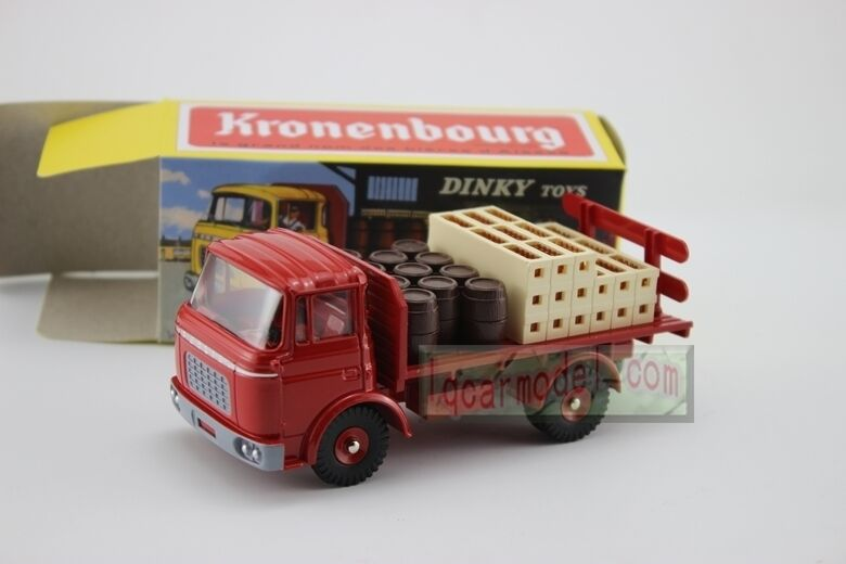 1 43 dinky toys atlas plateau brasseur berliet camion kronenbourg rouge ref 588 ebay. Black Bedroom Furniture Sets. Home Design Ideas