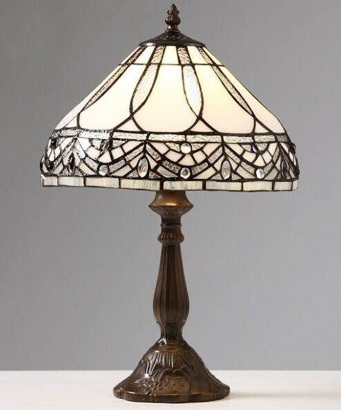 Tiffany Style White Jewels Table Lamp Lamps Shade
