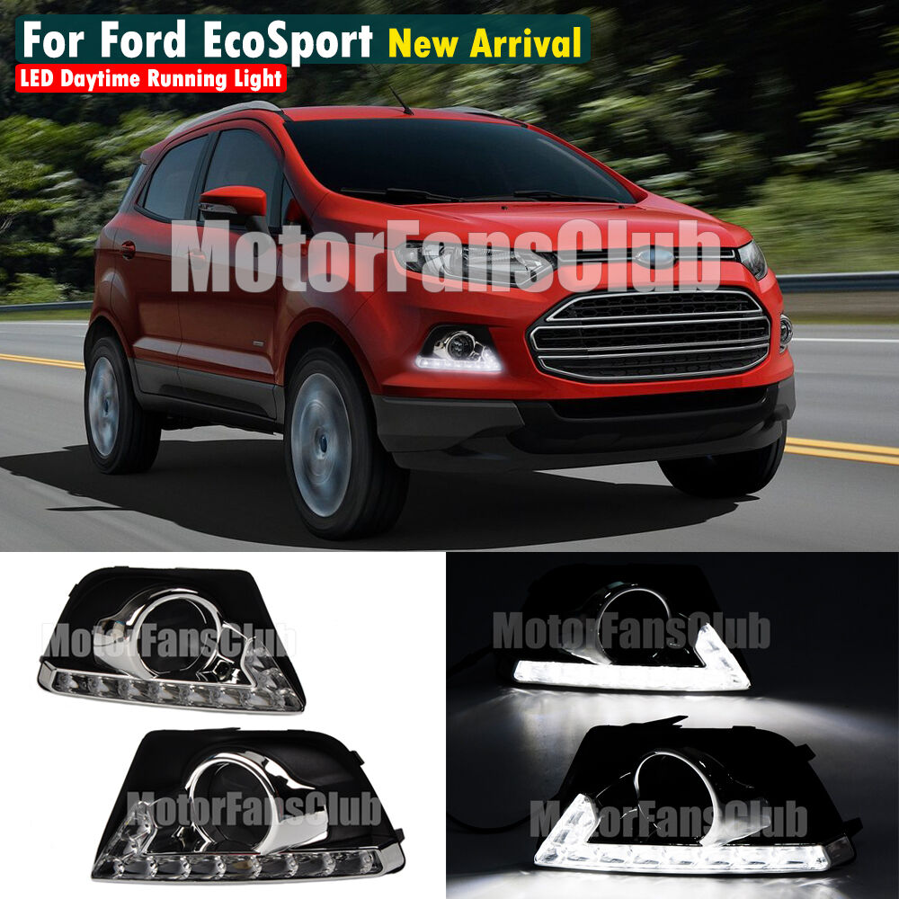 neu led tagfahrlicht f r ford ecosport drl tfl fog lampe 2013 2014 13 14 ebay. Black Bedroom Furniture Sets. Home Design Ideas