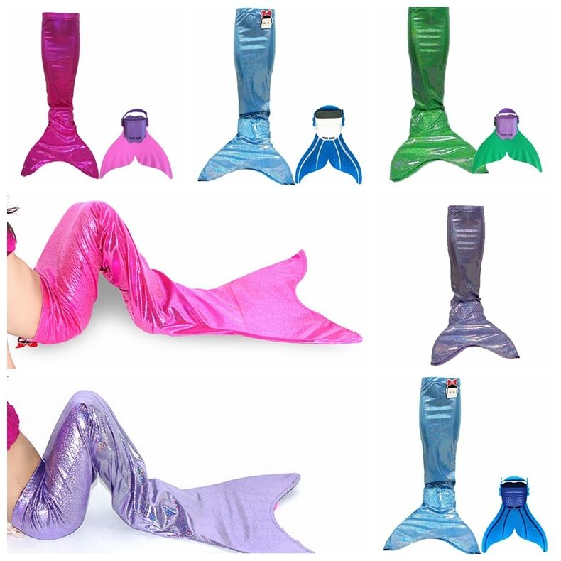 Swimmable Mermaid Tails: Kids Mermaid Tails Girls Swimmable Tails Monofin Flippers