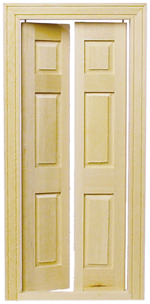 Dollhouse houseworks split interior door 1 12 scale hw6031 ebay - Swinging double doors interior ...