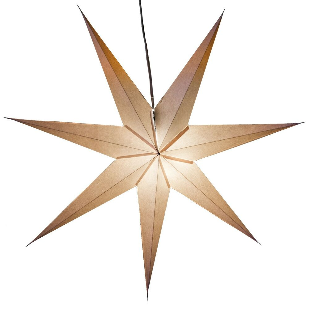 7 pointed white paper star light lamp lantern with 12 foot for Paper star lamp