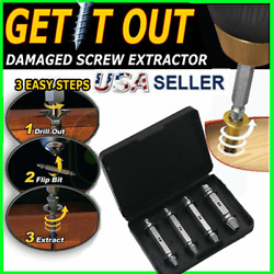 Kyпить 4pc Broken Bolt Remover Screw Extractor Easy Out Drill Bits Stud Reverse Damage  на еВаy.соm