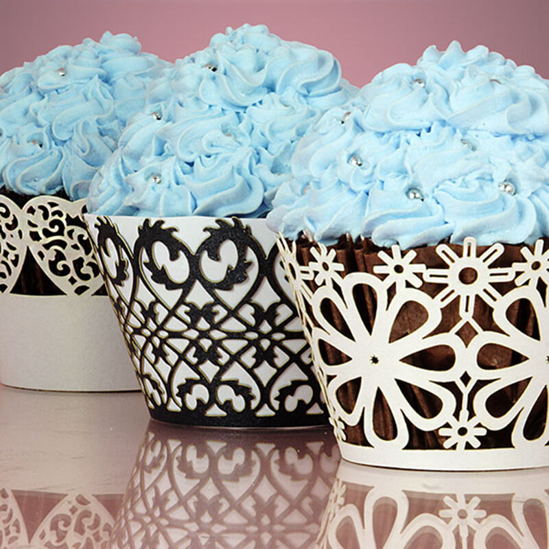 Cupcake Wrappers Lace Baking Cake Wrap Cups Wedding