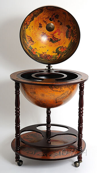 Unique Old World Style Globe Hidden Home Hide A Bar Furniture Ebay