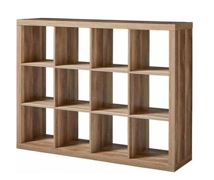 cube storage shelves weathered wood 12 cube organizer modern shelf bookcase 28872