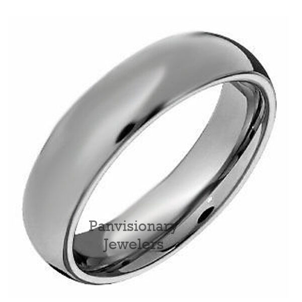6MM Dome Tungsten Carbide Ring Wedding Band Comfort Fit Mens Womenss Size 75