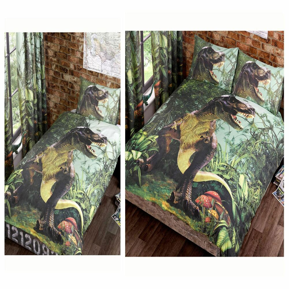 T Rex Dinosaur Jurassic Jungle Bedroom Range Single