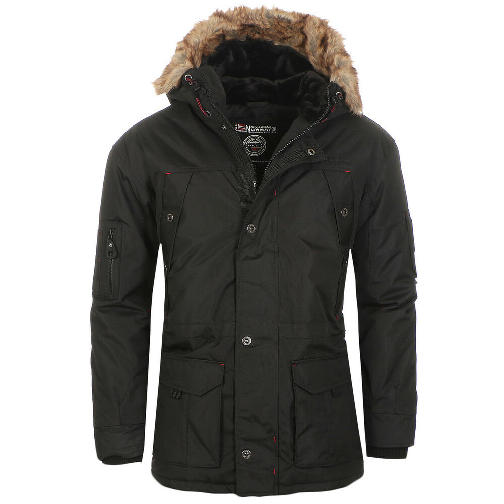 geographical norway anaconda herren winter jacke parka parker ebay. Black Bedroom Furniture Sets. Home Design Ideas
