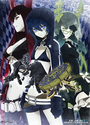 black rock shooter wall scroll anime manga cloth poster new ebay. Black Bedroom Furniture Sets. Home Design Ideas