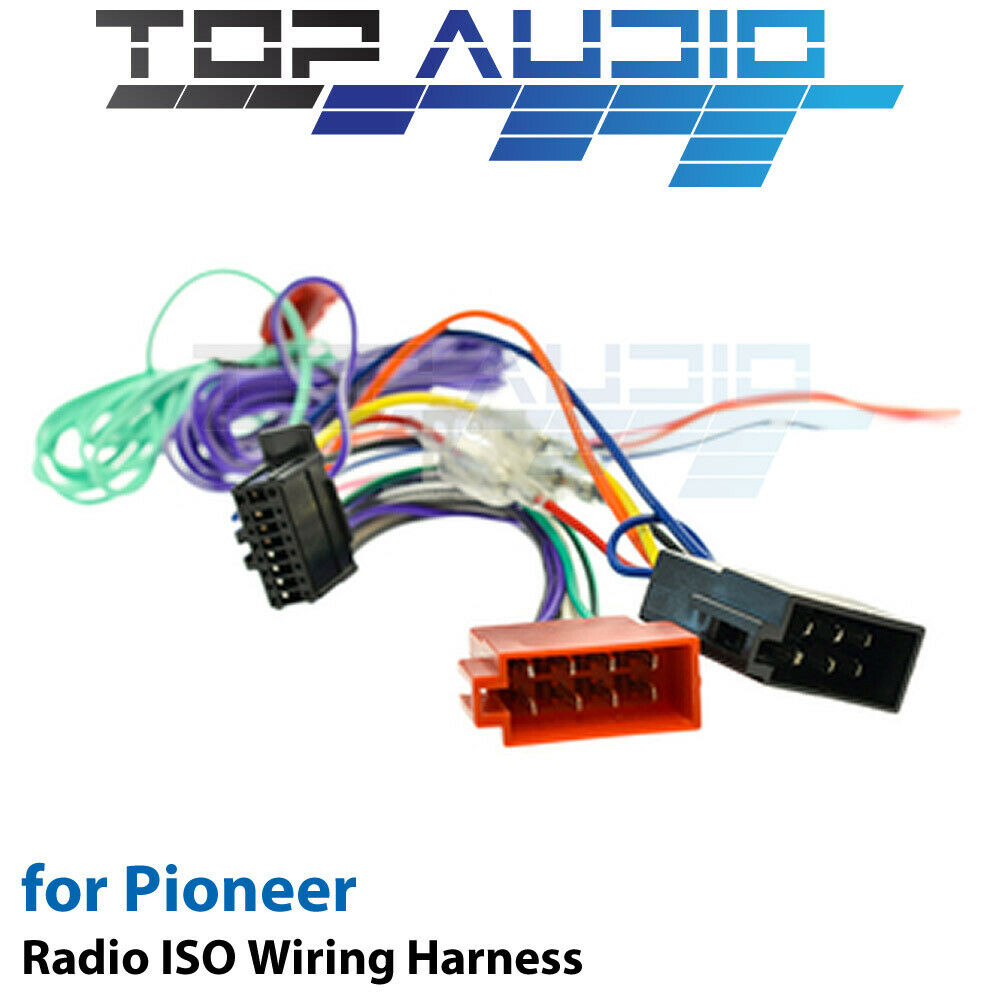 pioneer avh x2850bt iso wiring harness cable connector lead loom wire ebay