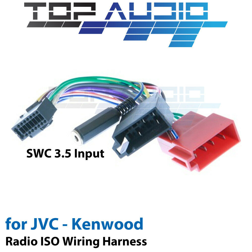 jvc kw r510 iso wiring harness swc cable adaptor connector lead loom wire ebay