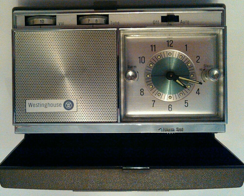 VINTAGE WESTINGHOUSE TRAVEL CLOCK RADIO, PERSONALIZED WITH ...