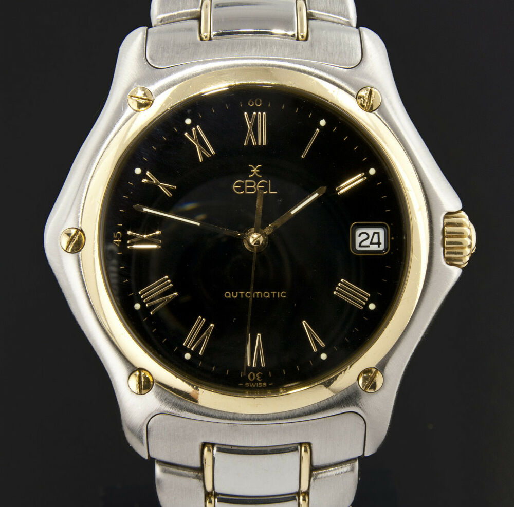ebel series 1911 stainless and 18k gold men 039 s watch automatic ebel series 1911 stainless and 18k gold men 039 s watch automatic date