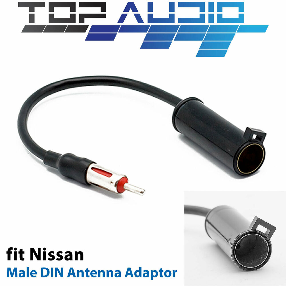 fit nissan antenna adaptor adapter converter plug aerial lead cable