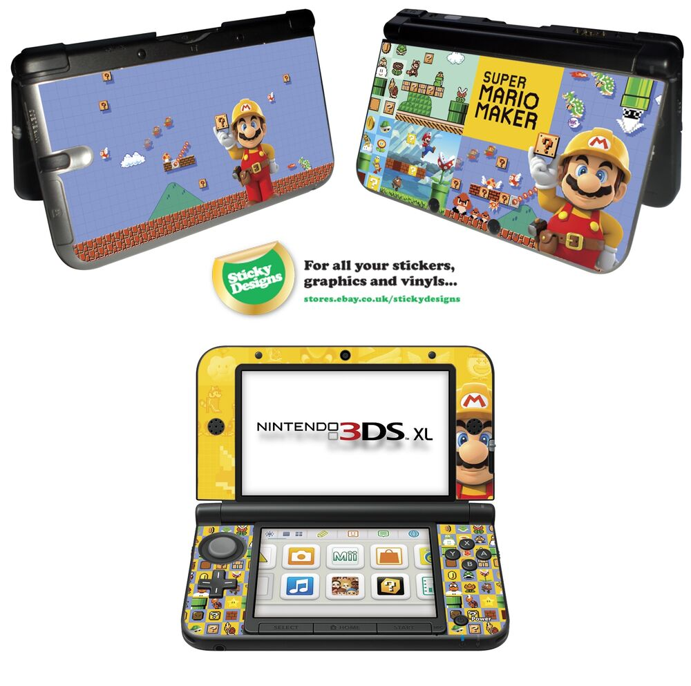 Super mario maker vinyl skin sticker for nintendo 3ds xl for Housse 3ds xl reine des neiges