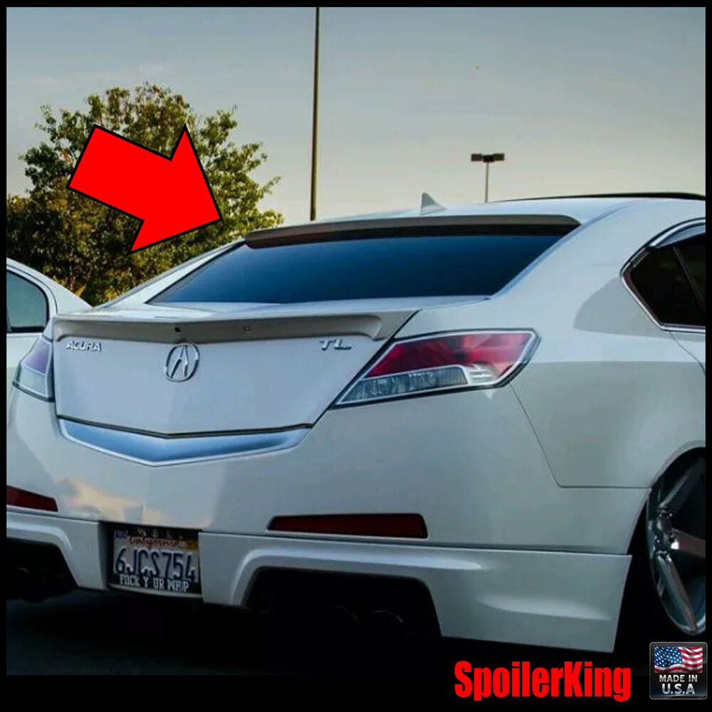 Rear Roof Spoiler Window Wing (Fits: Acura TL 2009-14
