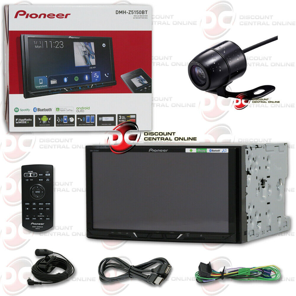 2017 new pioneer double din head unit 6 2 car dvd cd bluetooth back up camera ebay. Black Bedroom Furniture Sets. Home Design Ideas