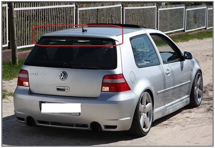 vw golf 4 r32 look rear roof tailgate spoiler painted. Black Bedroom Furniture Sets. Home Design Ideas