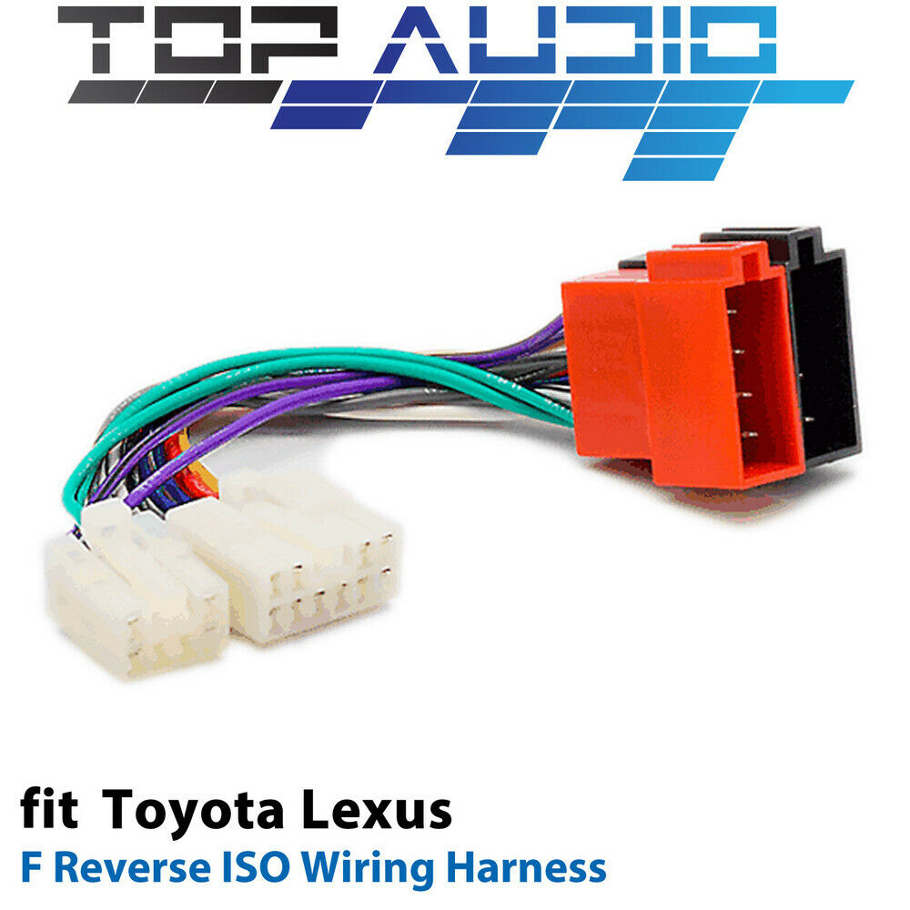 Wiring Harness For Car Stereo Toyota : Toyota car stereo radio iso wiring harness connector