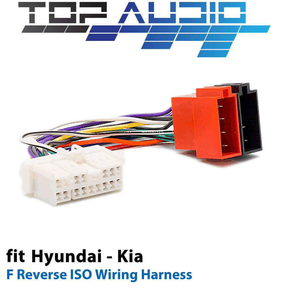 F Reverse Iso Wiring Harness For Hyundai Kia Adaptor Cable Lead Loom Ebay