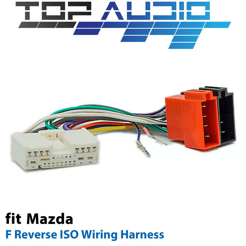 f reverse iso wiring harness for mazda adaptor cable lead