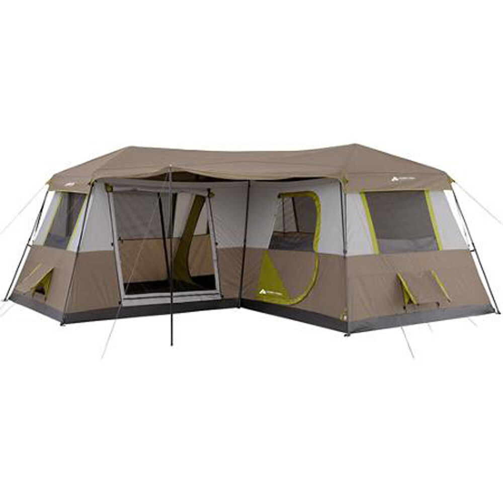 Camping tent 12 person large 3 rooms 16 39 x16 39 family river for Tent cottage