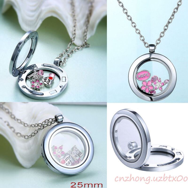 sale floating charm living memory glass locket