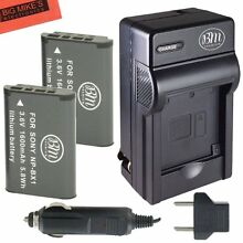 BM NP-BX1 2X Batteries & Charger for Sony CyberShot HDR-AS10,AS15,AS30V,AS100V
