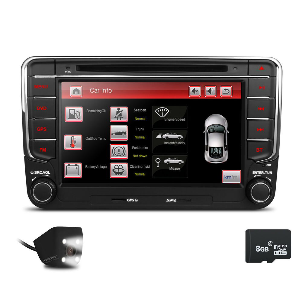 xtrons 7 lcd car dvd player gps navigation for vw golf 5. Black Bedroom Furniture Sets. Home Design Ideas