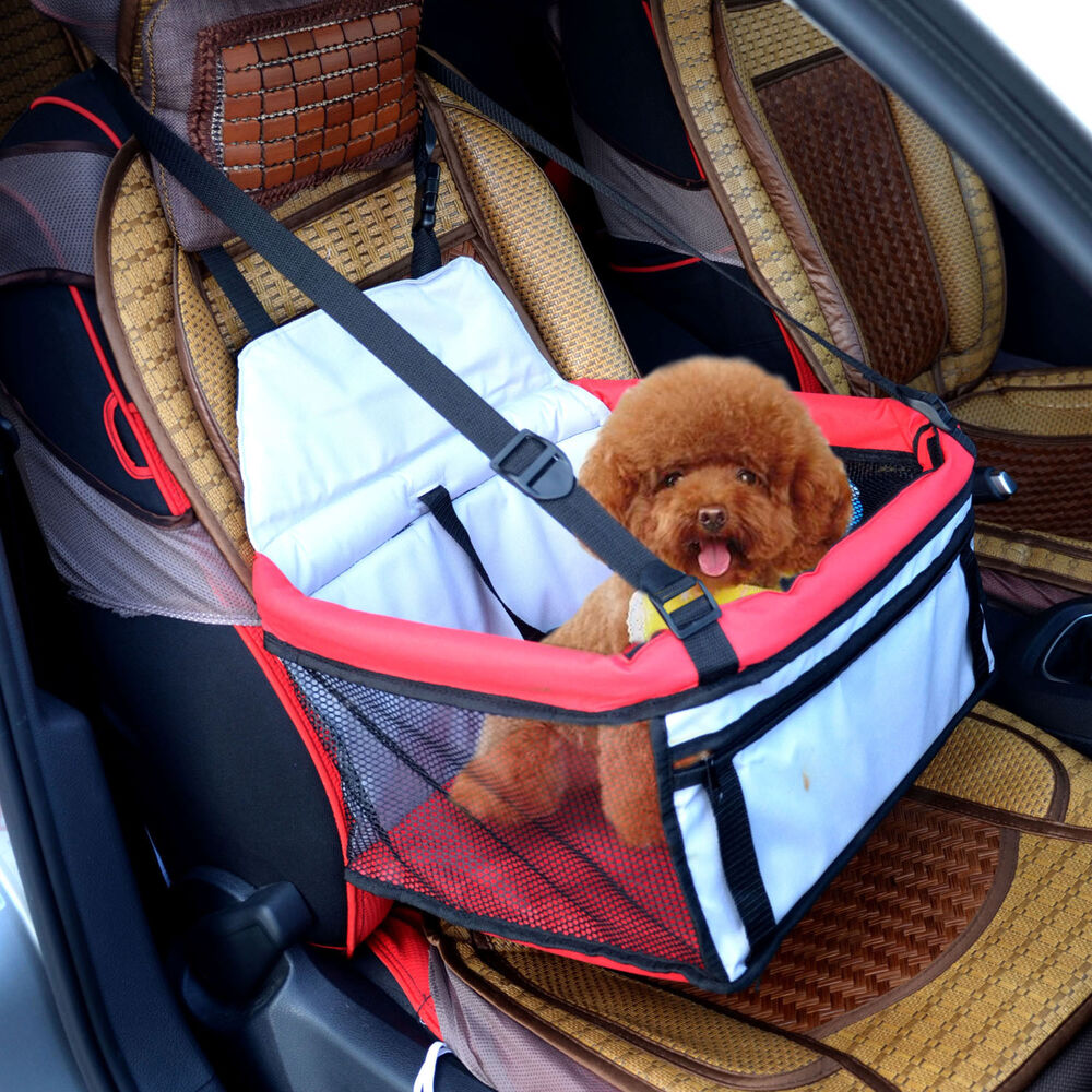 PawHut Pet Dog Car Seat Booster Tote Soft Safety Travel ...