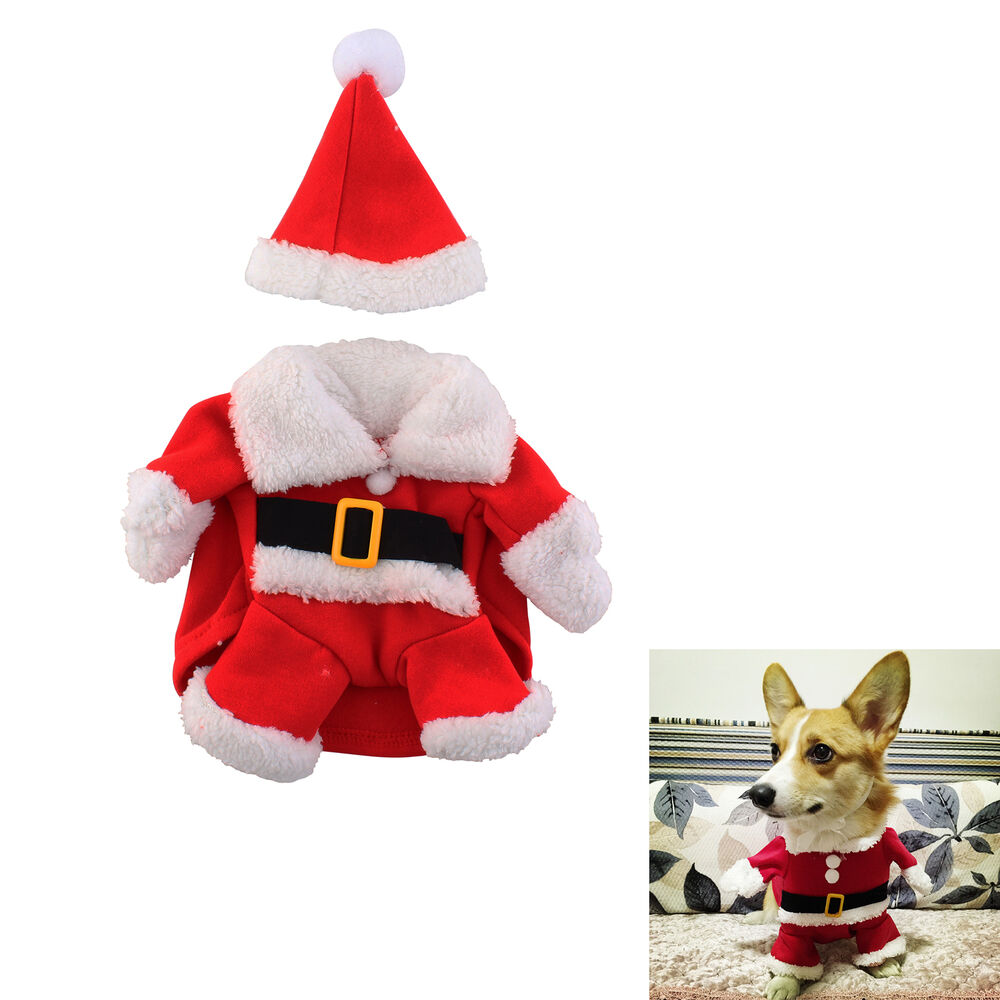 pet cat puppy clothes santa claus costume