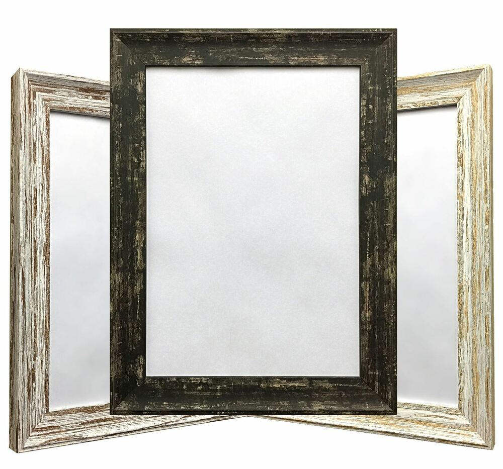 Distressed Wood Finish Photo Frame Picture Frame Various