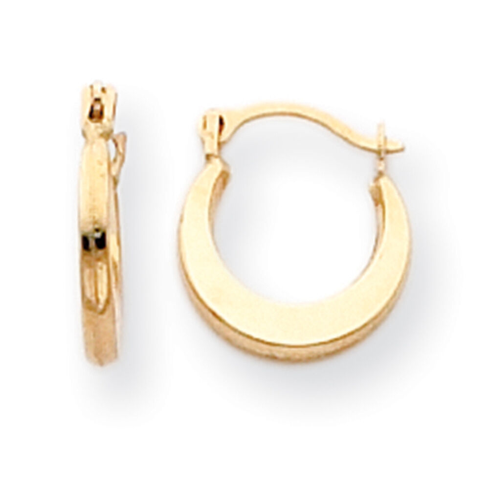 children s hoop earrings 14k yellow gold hollow small hinged hoop earrings madi k 1655