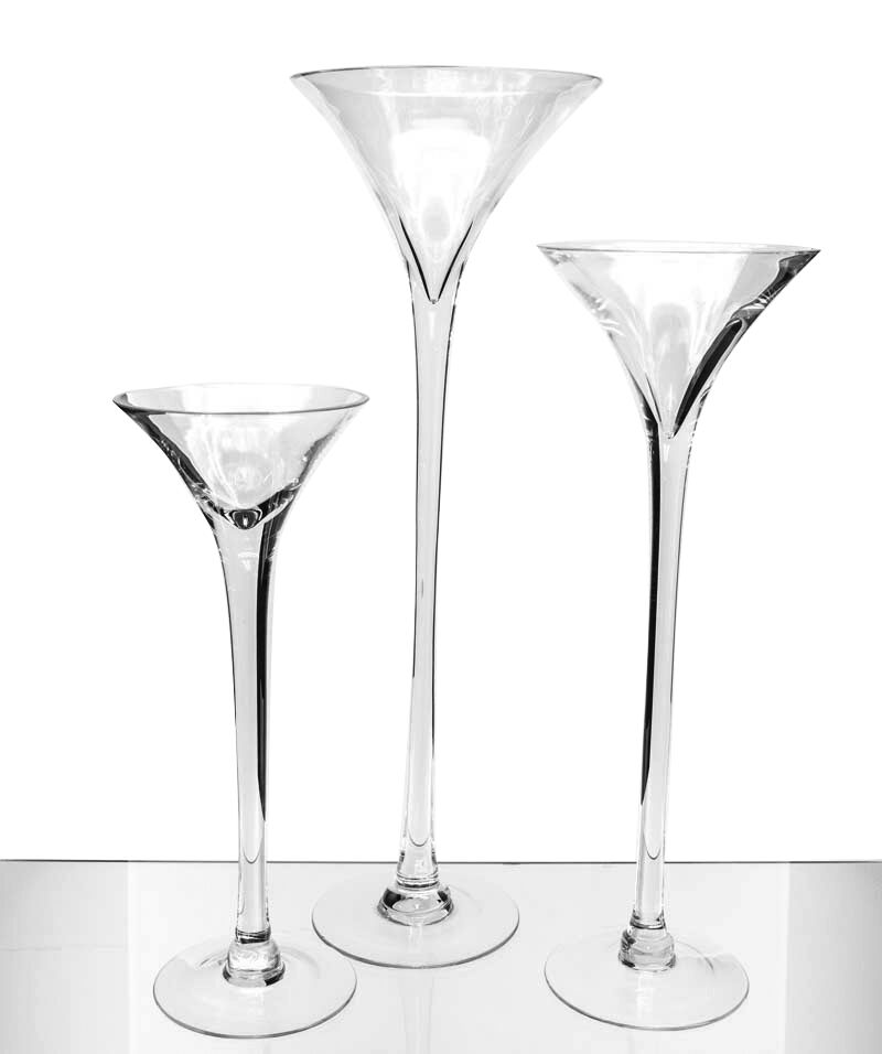Martini glass vase 16 20 23 wedding centerpiece tall for Decoration vase martini