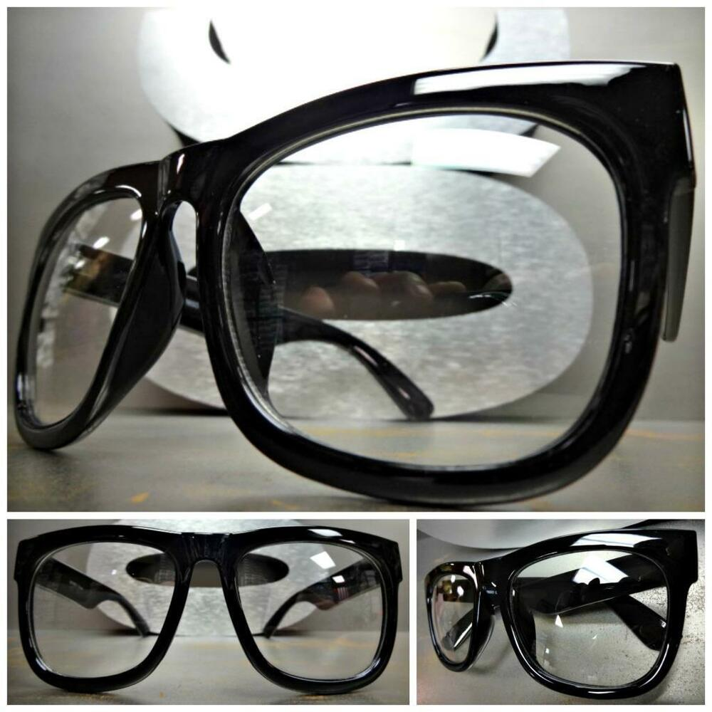 Men or Women CLASSIC VINTAGE NERD Style Clear Lens EYE ...