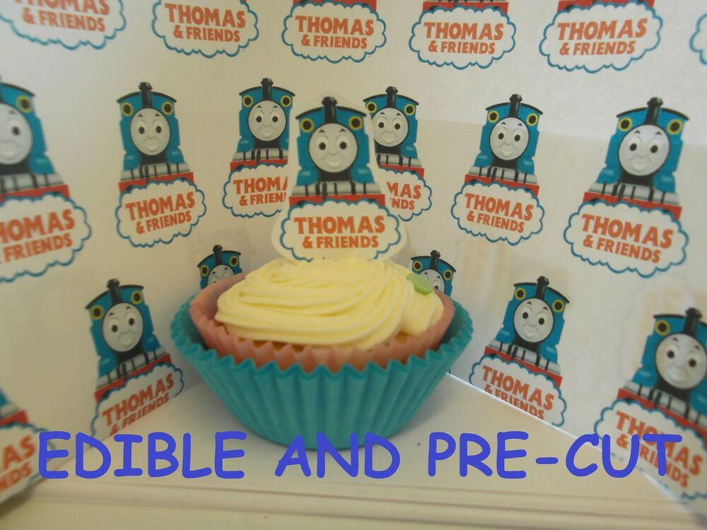 Thomas the tank engine X24 edible stand up cup cake ...