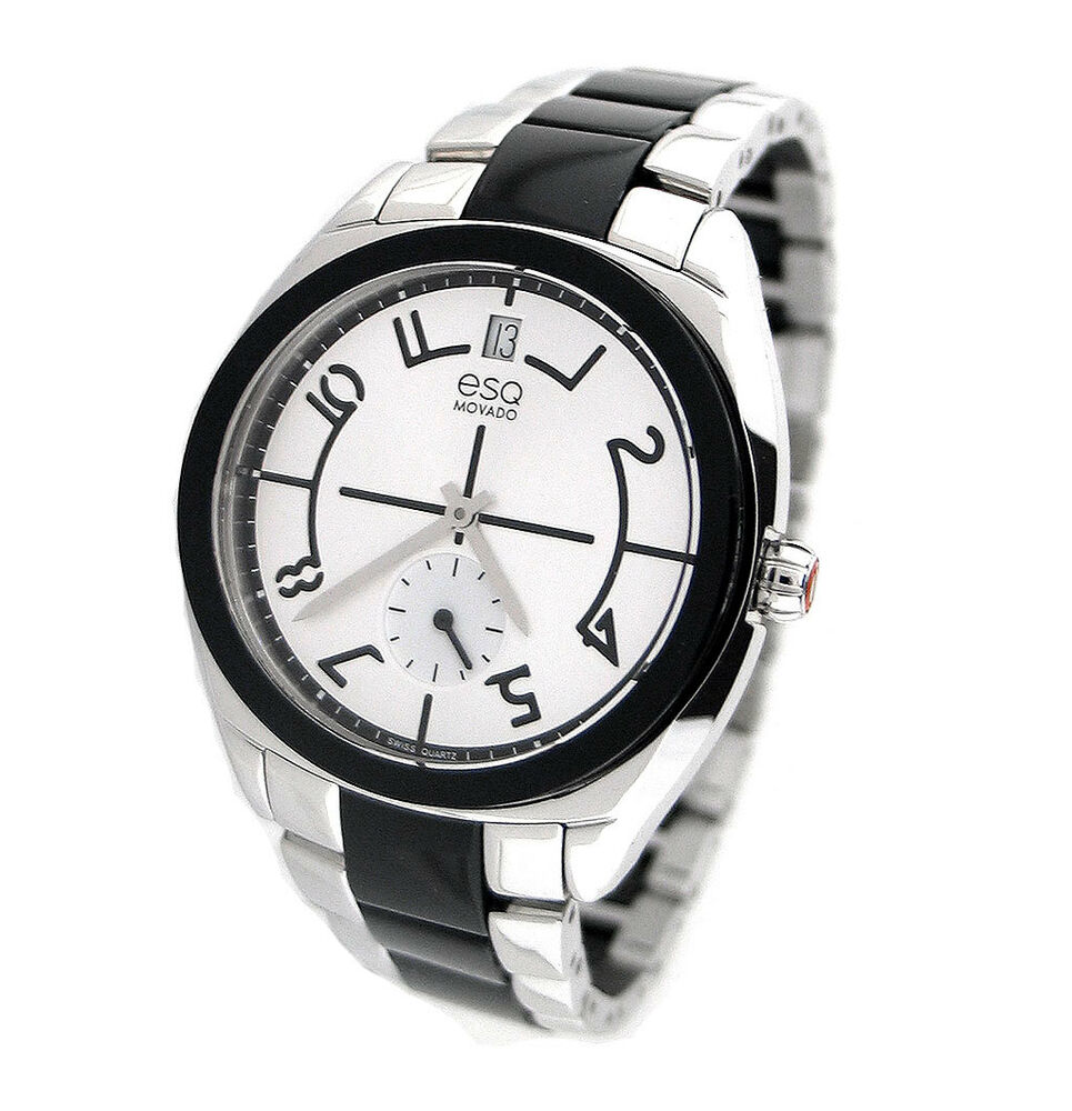 new esq by movado swiss stainless steel ladies watch. Black Bedroom Furniture Sets. Home Design Ideas