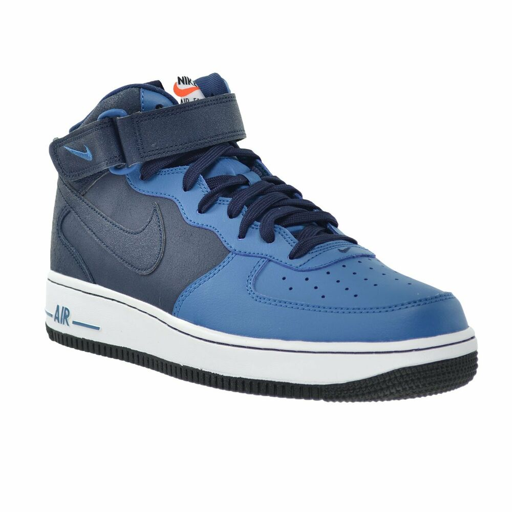 315123 406 nike air force 1 mid casual obsidian blue white. Black Bedroom Furniture Sets. Home Design Ideas
