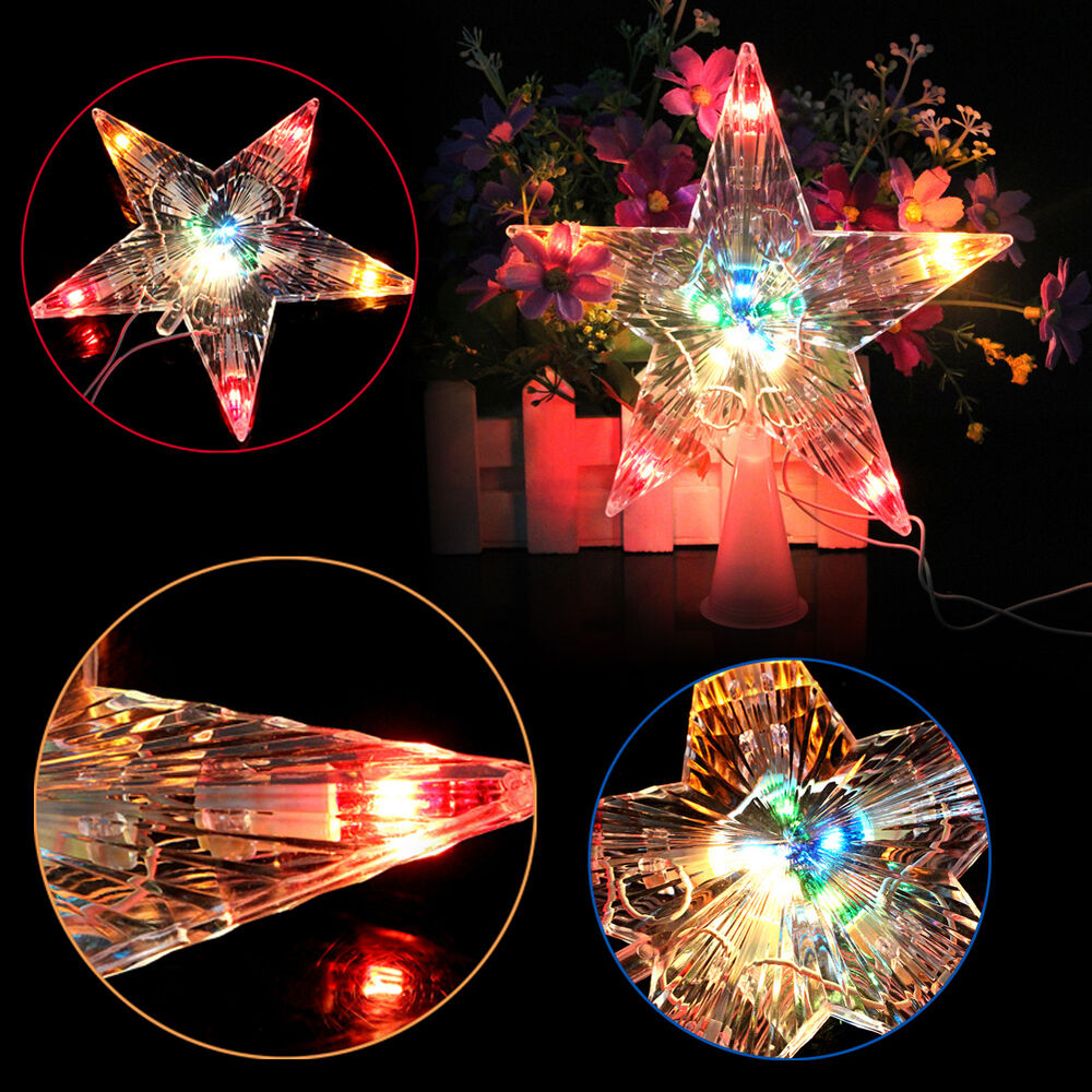 xmas christmas tree topper star led light party color changing lamp decoration ebay. Black Bedroom Furniture Sets. Home Design Ideas