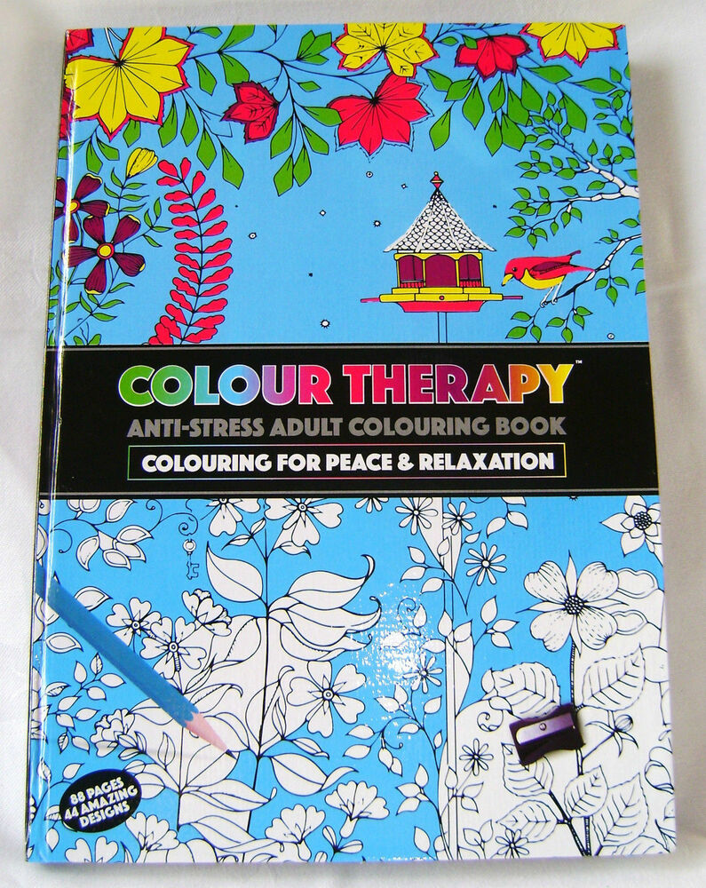 Colour therapy books for adults - Color Therapy For Adults Anti Stress New Colour Therapy Anti Stress Adult Colouring Hardback Book