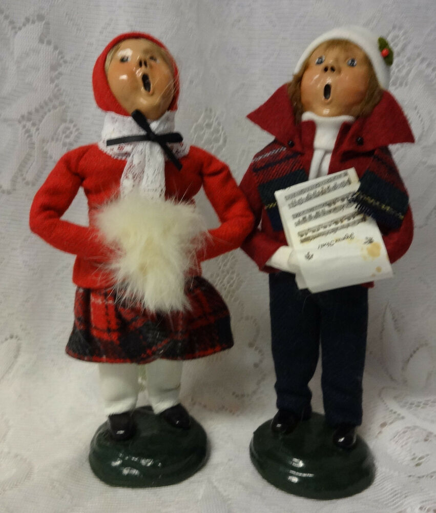 Christmas Carolers Yard Decorations: Vintage 1987 Buyers Choice Carolers Boy Girl Christmas