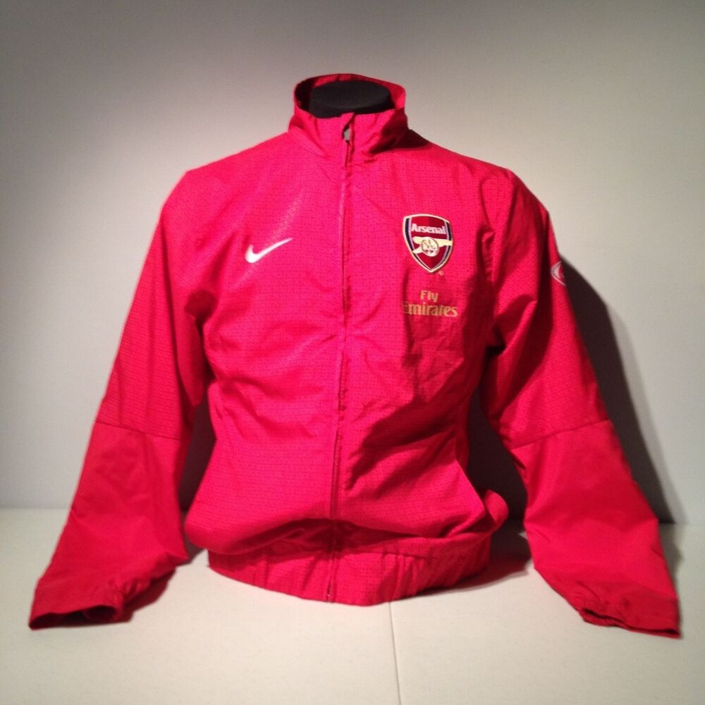 arsenal fc football club soccer nike track jacket gunners