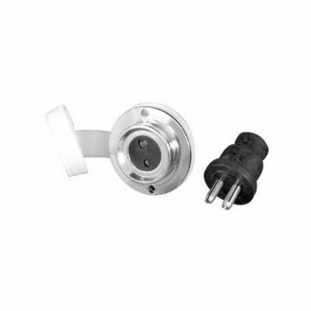 Marpac Chrome Polarized Power Outlet And Plug 12 Volt